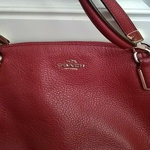 Coach Bags - Coach 33736 Red Leather Small Kelsey  Handbag